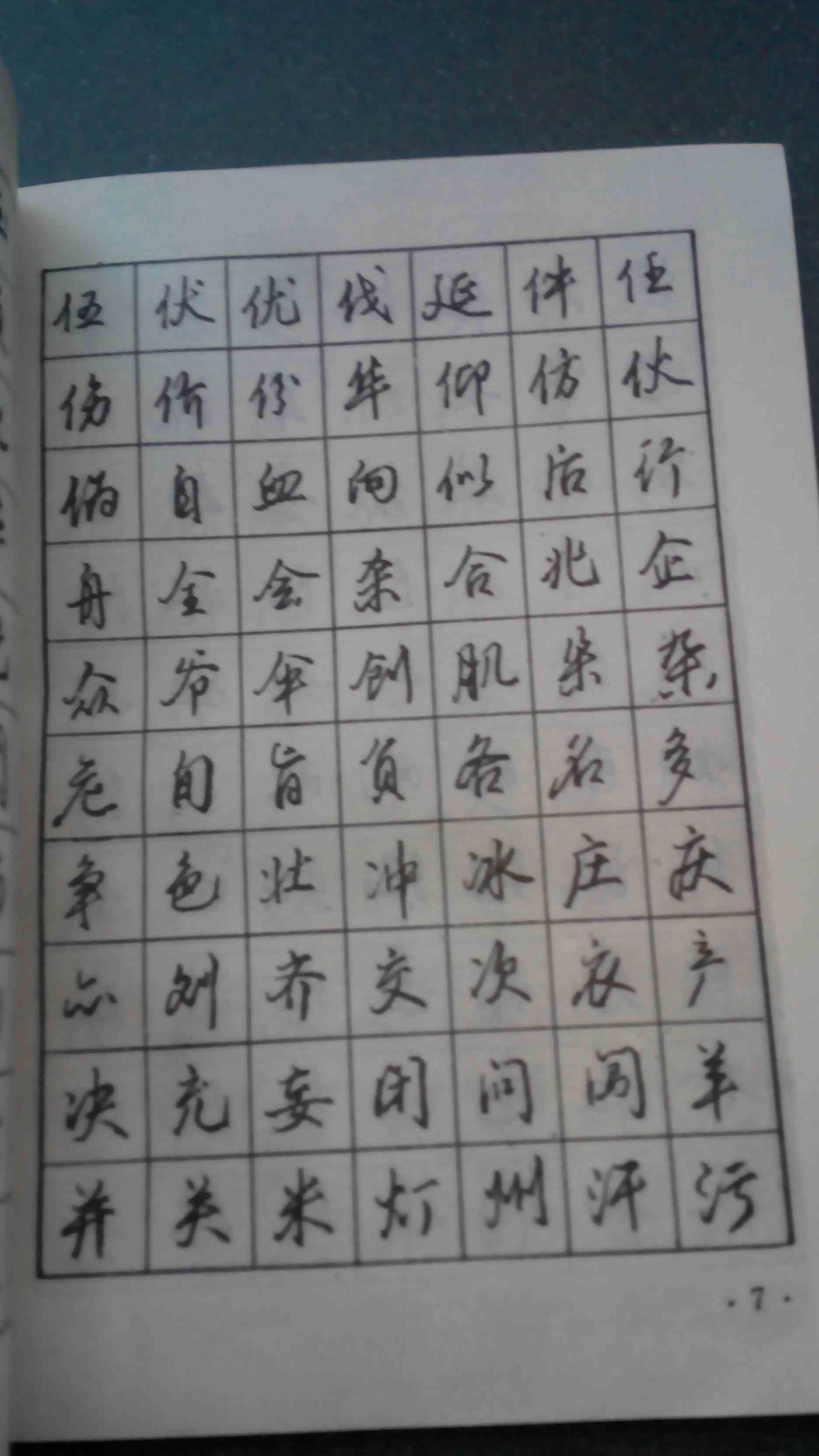 3500常用字行书钢笔字帖图片