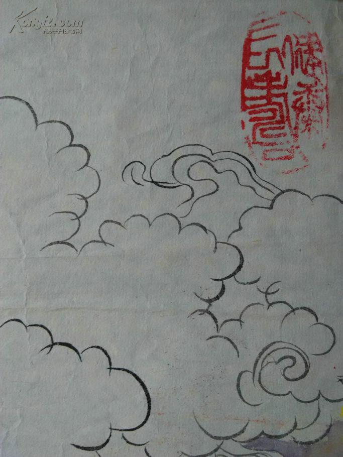 老画家国画 著名院校教授设色人物老国画 嫦娥奔月图 孔夫子旧书网