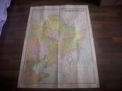 民国精品-1开老地图-1947年初版[东北九省行政区域图]!尺寸105X75.5厘米