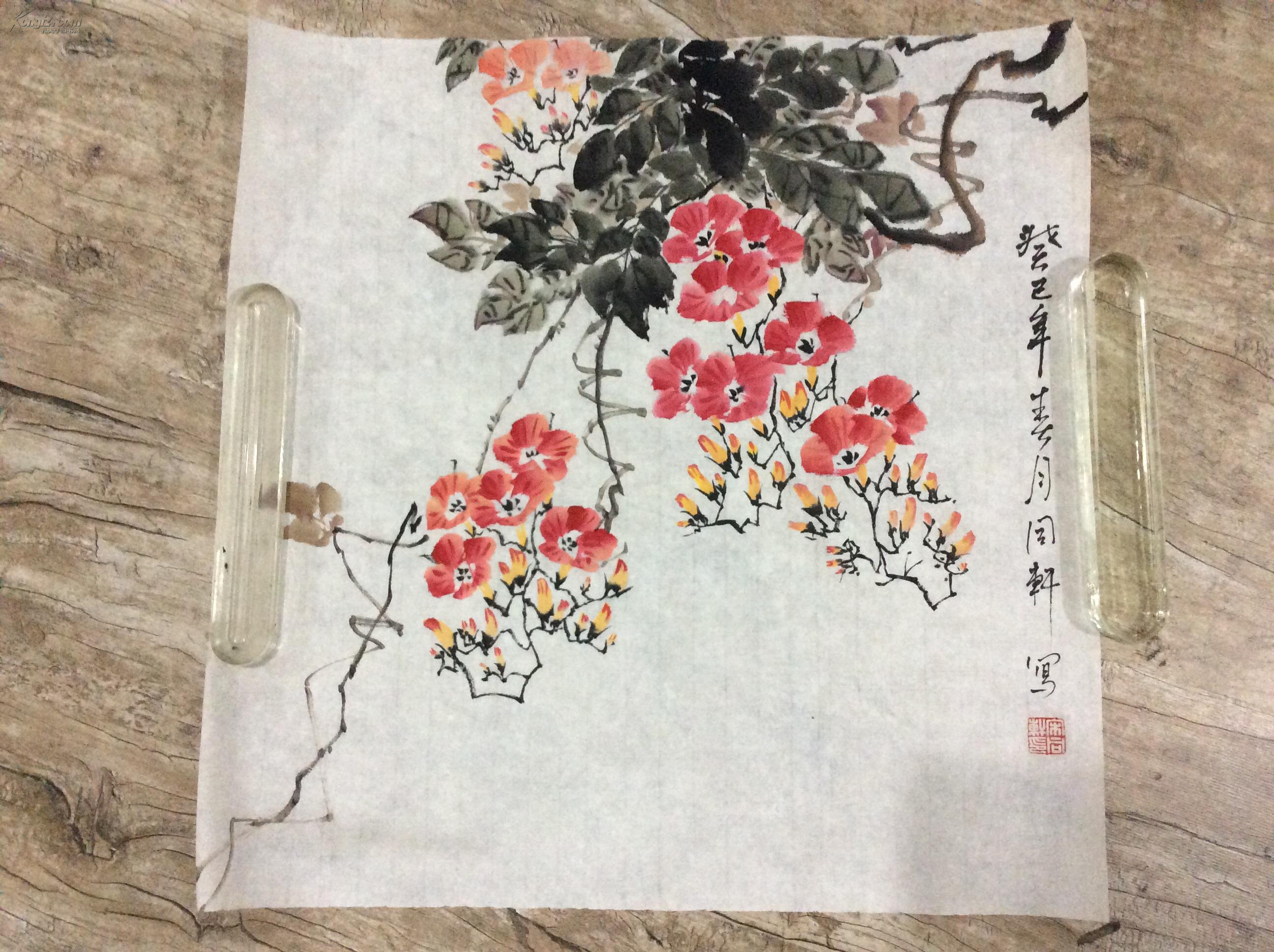 【图】牵牛花-写意画-花鸟画图片
