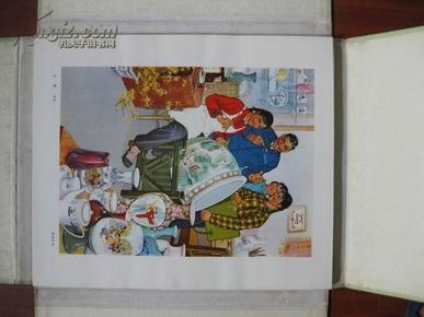 庆祝中华人民共和国成立二十五周年 -全国美术作品展览作品选集 109张全套  甲种本