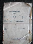 16)【绝无仅有】油印1965年   吉林市昌邑区选飞办公室《关于对飞行学员调查范围的示意图》和《年龄对照表》