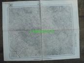 民国地图55【1948年】湖北省京山县东桥镇地形图