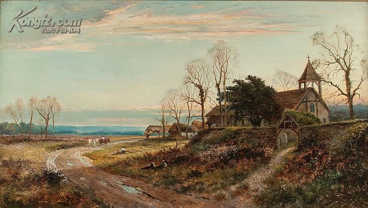 19世纪英国著名风景画家daniel sherrin油画作品 --难得一见的艺术