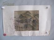 清代山水國畫一幅 乾隆年間供奉內廷的宮廷畫家  袁瑛 作品一幅 保老 尺寸32*27厘米