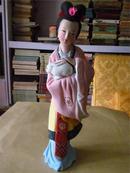 早期精美彩色泥塑:古代美女之四(尺寸较大)