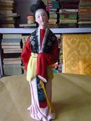早期精美彩色泥塑:古代美女之二(尺寸较大,编号92119)