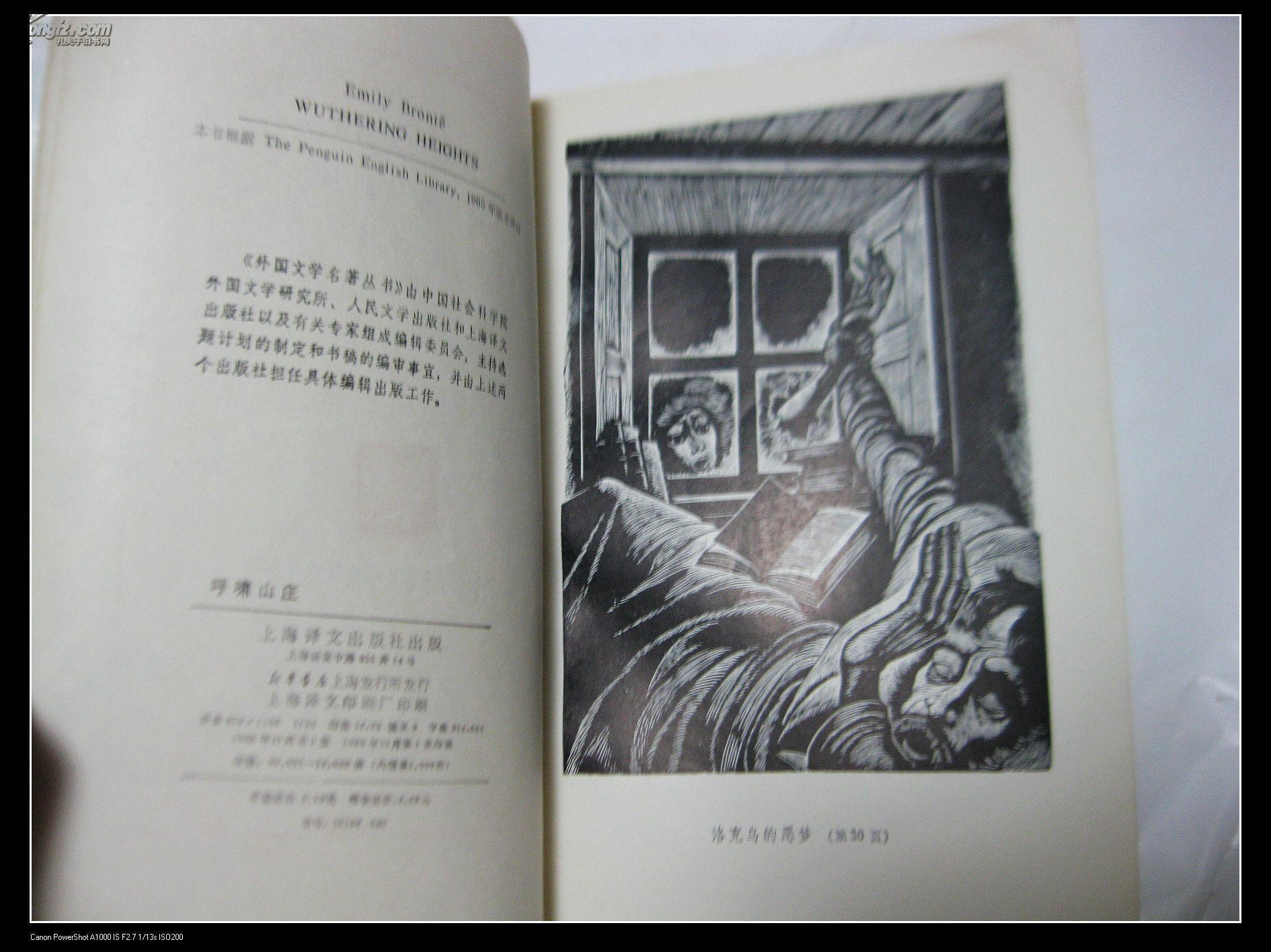 网格本《呼啸山庄》(全一册,插图本)图片