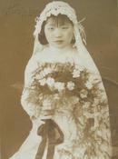 民国老照片:民国美女结婚婚纱照,美丽新娘