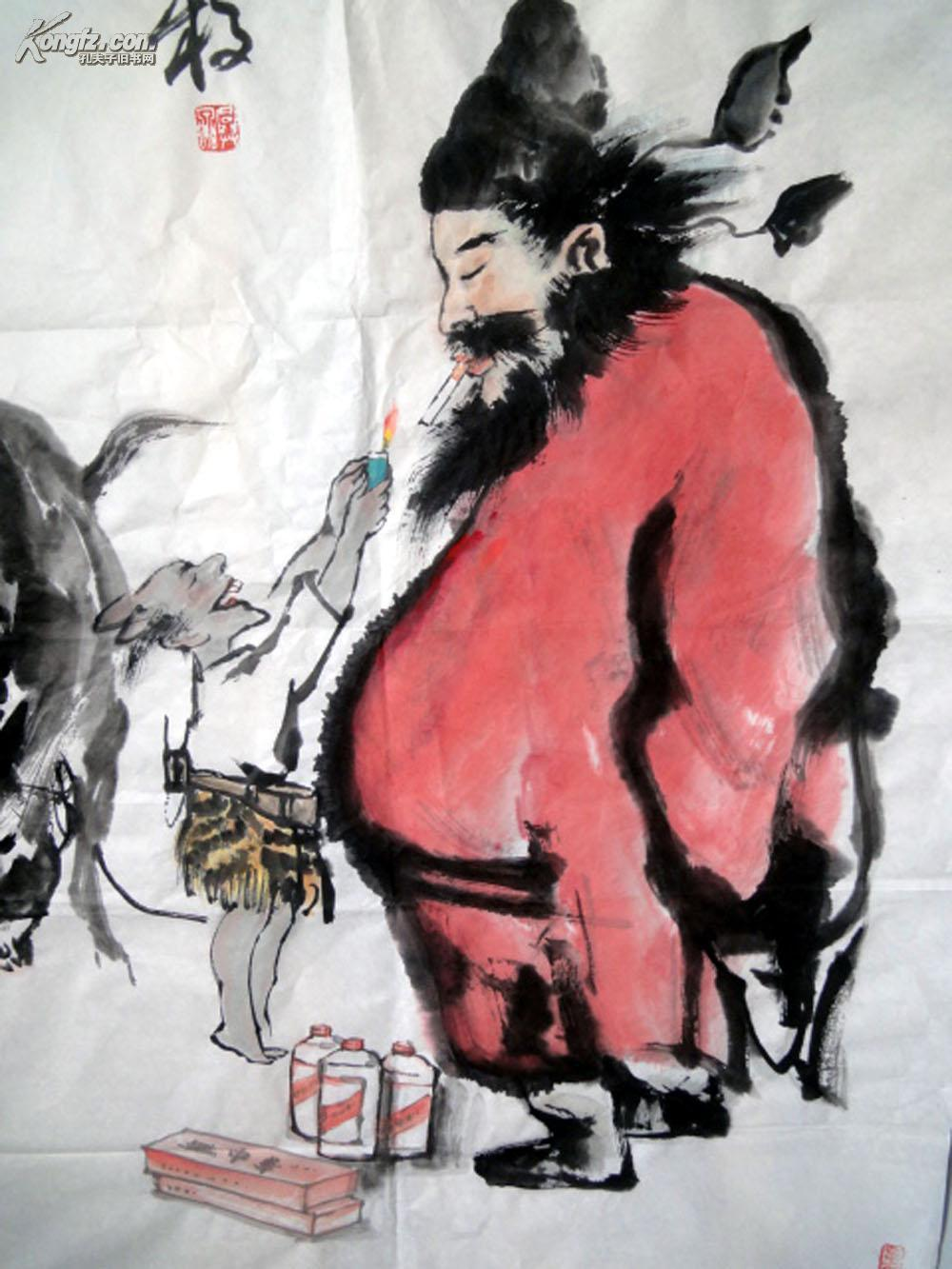 安徽省著名画家【刘兴泉】四尺整张-----钟馗图片