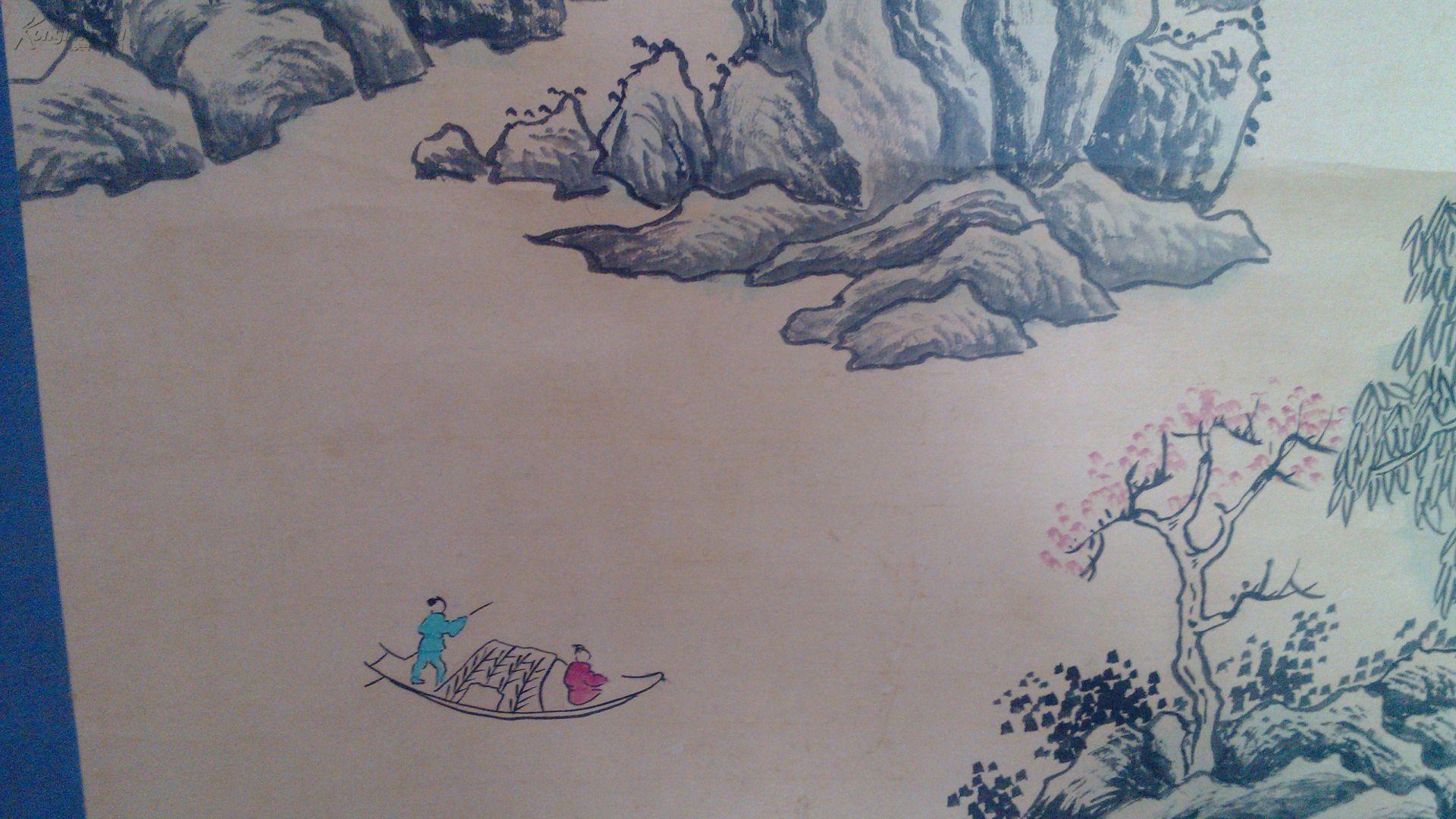 《 匡庐图 》纸本 大幅山水立轴,【日本回流】图片