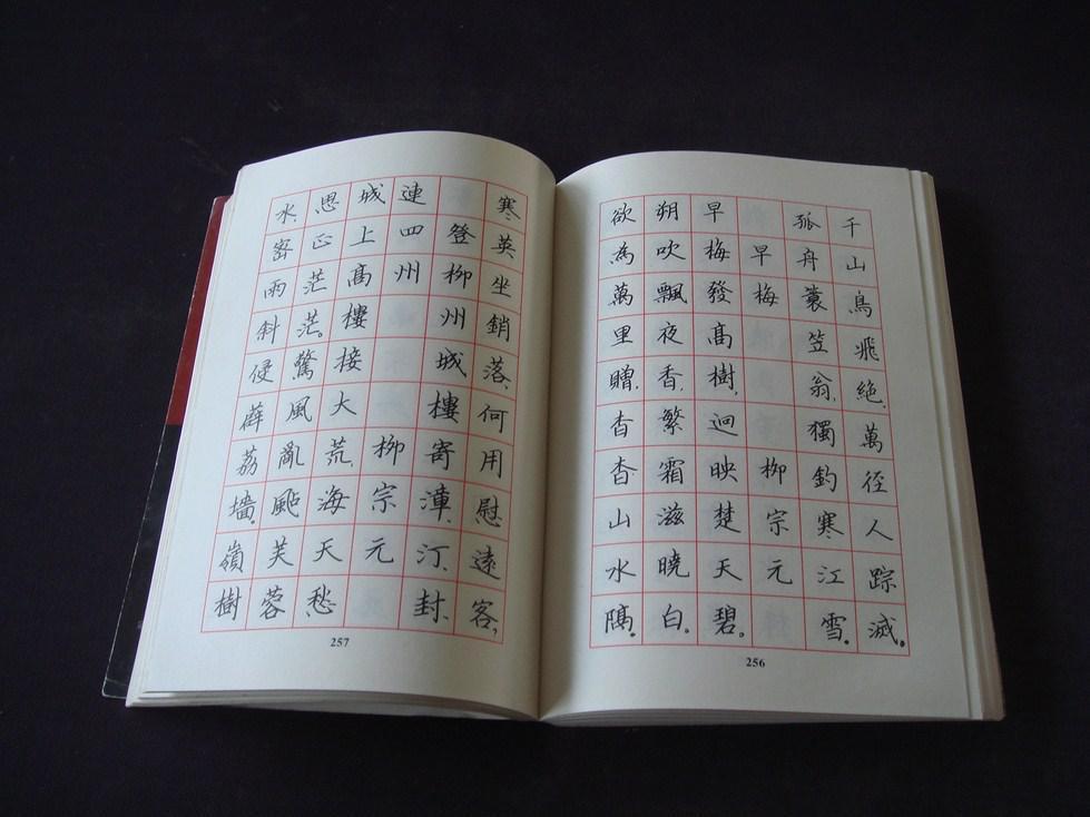 新选唐诗三百首楷书钢笔字帖图片