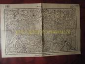 民国地图65【1948年】湖北省江汉道随县襄阳道襄阳县环潭镇地形图