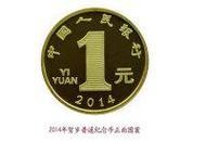 2014年马年纪念币面值1元(生肖纪念币)保真