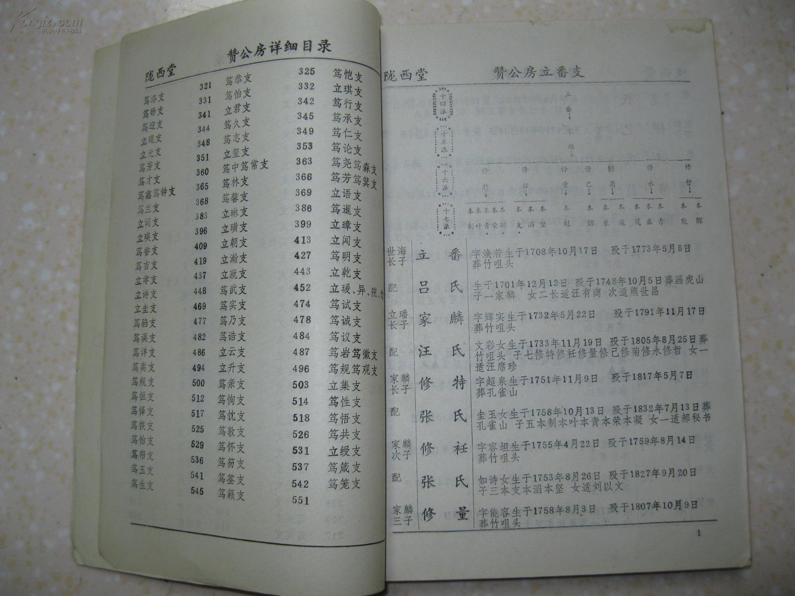 李氏第六届续修族谱 共3本 第二卷 第三卷 第四卷 湖南省长沙 湘潭等图片