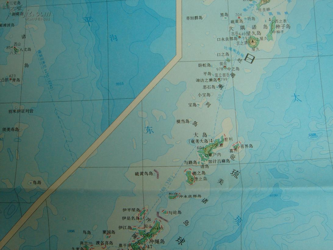 日本地图 分层设色