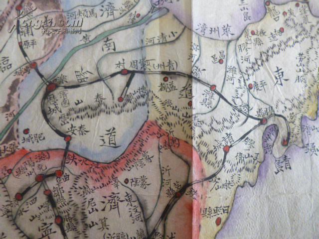 手绘-----【山东省地图】