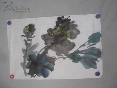 写意牡丹图 国画一幅 尺寸70*46厘米