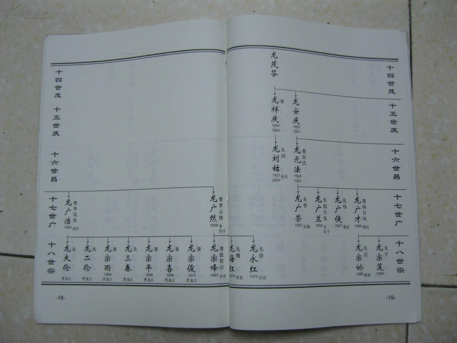 龙氏族谱字辈图片