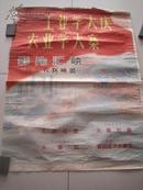 文革 电影海报 工业学大庆农业学大寨  尺寸为70*53cm