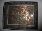 清朝时期老外文特制金属制铁盒子 做工精细 盒盖多层设计  保存不错 尺寸 22.5*18.5*7厘米