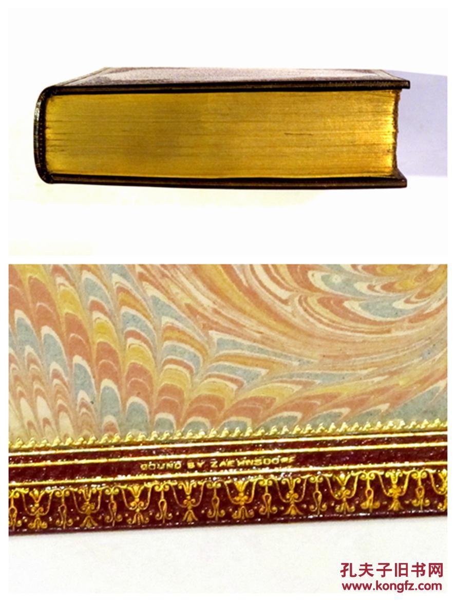 全品/英国伦敦zaehnsdorf装帧坊手工装订/摩洛哥羊皮图片