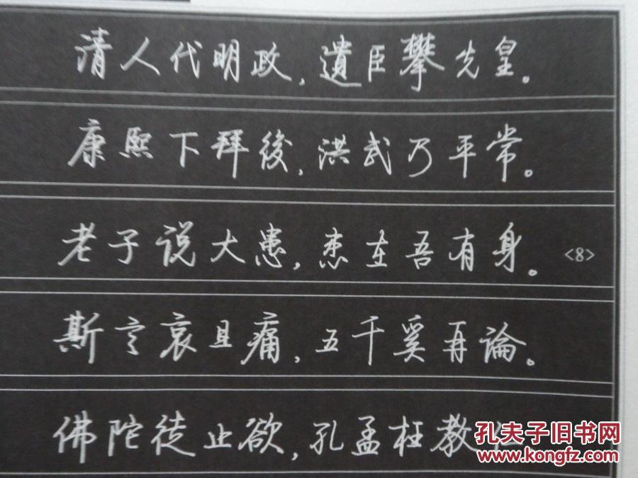 16开 启功诗词钢笔行书字帖. 第一辑图片