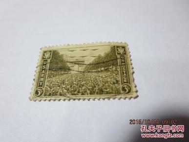 上世纪40年代美国军队邮票一枚3美分(包老包真),收藏夹34