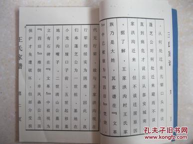 王氏家谱(山东图片