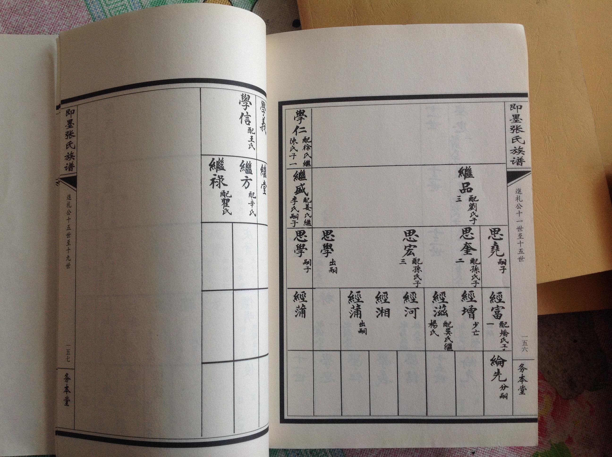 张氏族谱-家谱图图片