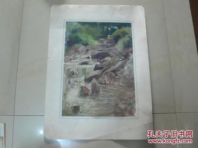 涧水欢歌(天津美术家协会会员许明友 80年代作品)