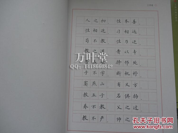 中国经典名篇硬笔书法系列字帖 三字经 百家姓 千字文 三种合售图片