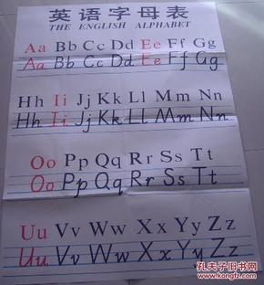 26个字母书写体怎么写,大小写都要图片