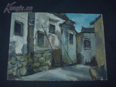 油画一幅/25*35厘米,创作时间不详。