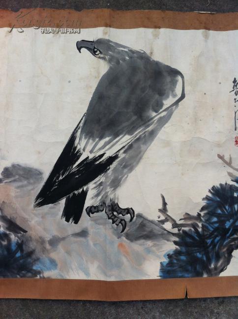 杭州画家 李明 号 鲁智深 画 远瞻 镜心 135 67cm保真