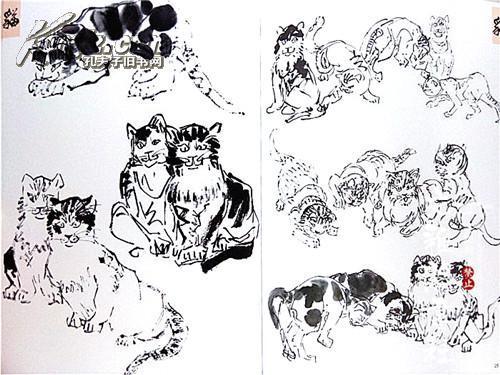 全新正版 国画基础 怎样画猫 王传贺,王乐著 工笔写意小猫的画法中国图片