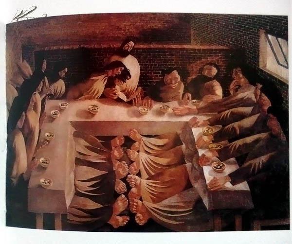 不朽圣像100最后的晚餐(有关最后的晚餐圣经故事 60幅经典世界名画 )图片