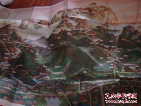 【图】泰山登山路线图【手绘