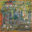 (名家字画),方向  ,著名画家,花鸟写意,《家园芳华...》......尺寸,68x68cm