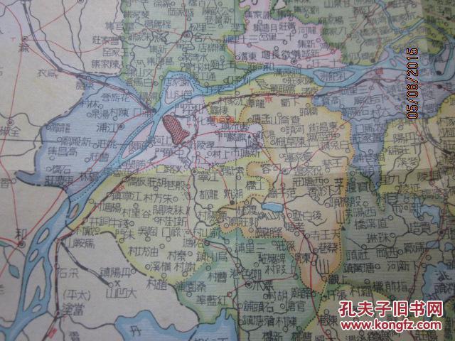 民国地图《江苏分县详图》75×53厘米,dsj2-0图片