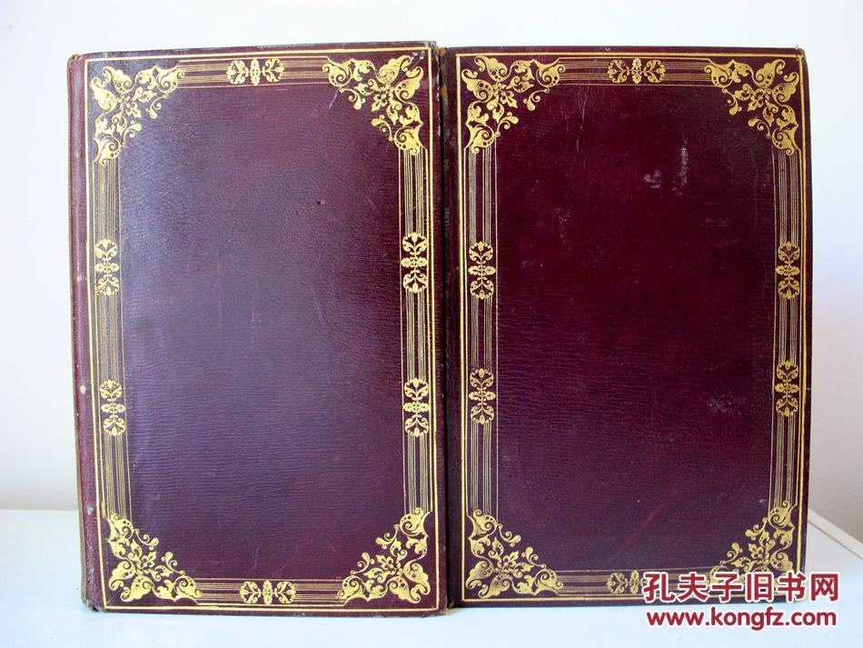 1831/34年版豪华大开本全皮精装烫金书脊三面书口刷金图片
