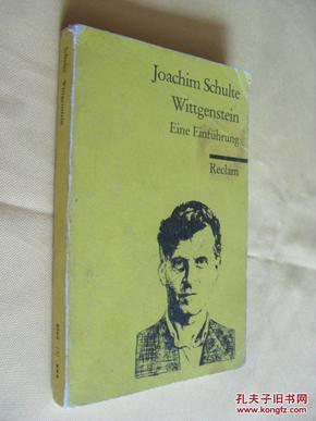 德文原版    Wittgenstein.   Joachim Schulte