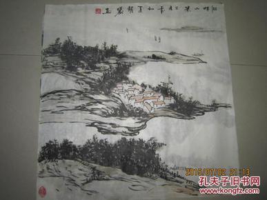 国画山水斗方50