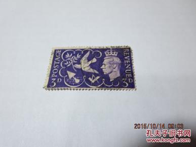 上世纪40年代英国邮票revenue postage 3d一枚(包老包真),收藏夹34