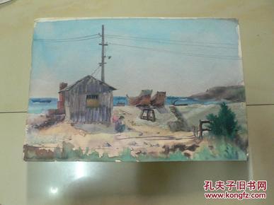 海滨即景之三(天津美术家协会会员许明友 80年代作品)