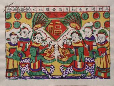 八十年代印制老木版年画版画(5)--------越来越少的民间艺术,渐行渐远的民风民俗!!!