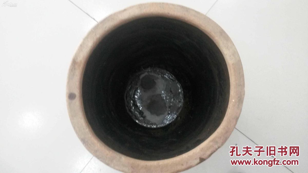 很老的粗��_保真保老,民国末期陕西地方窑中型米缸,粗瓷黑釉,很漂亮!