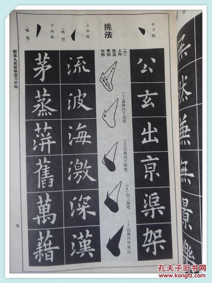 欧体九成宫标准习字帖 16开图片