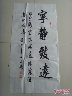 王琦:书法:宁静致远(河南省书法家协会会员.北京嘉墨图片