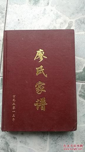 廖氏家谱 2013年续版图片